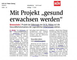 NÖN St. Pöltner Zeitung Artikel_Dez 2015